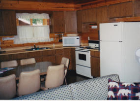 Full kitchens in each cabin